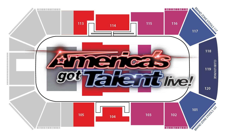 America's Got Talent Seating chart
