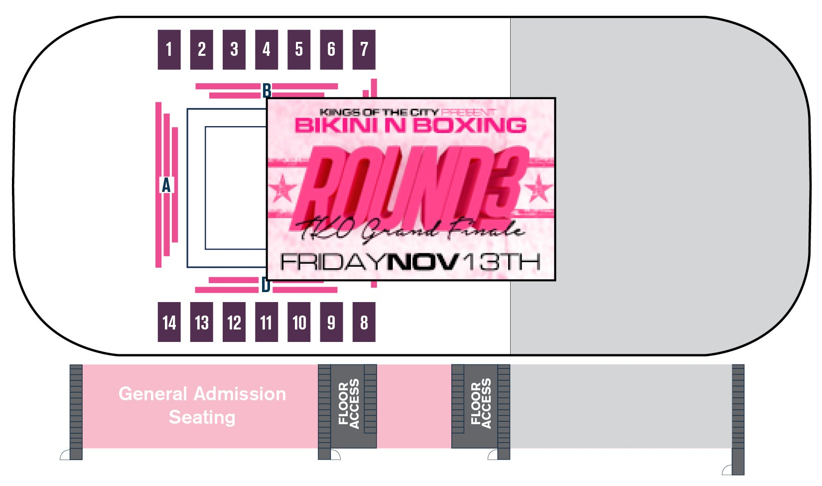 Bikini N Boxing Seating chart
