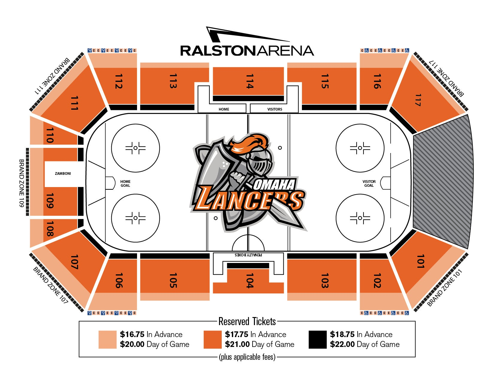 Seating Chart Venue Ralston Arena